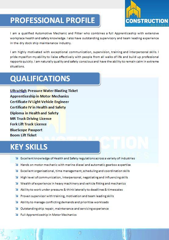 skilled trade resume 017