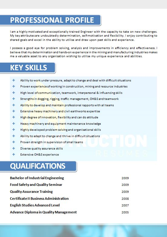 skilled trade resume 025 construction resumes