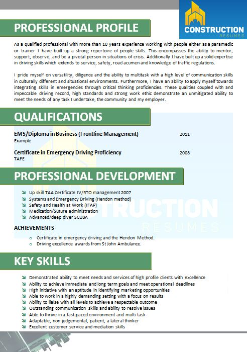 skilled trade resume 034