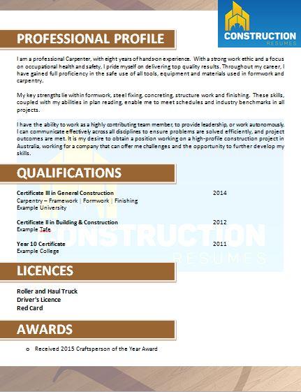 skilled trade resume 039