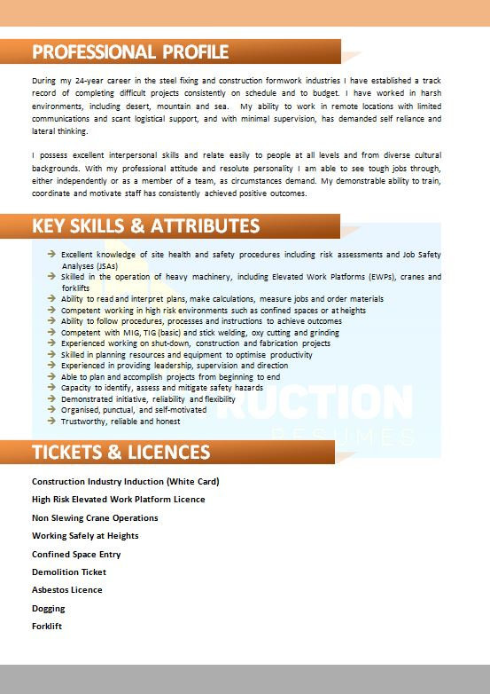 skilled trade resume 024 construction resumes